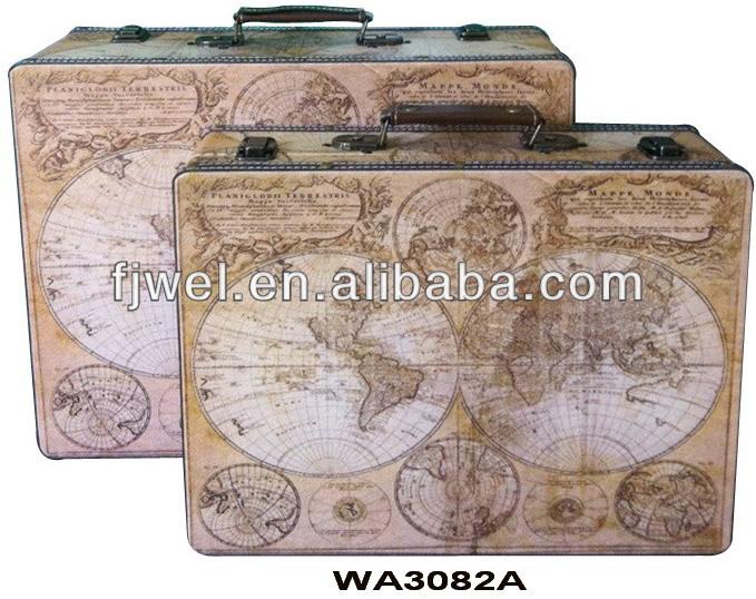 Shabby Chic Antiguo Mapamundi Maleta Vintage  Buy Product on