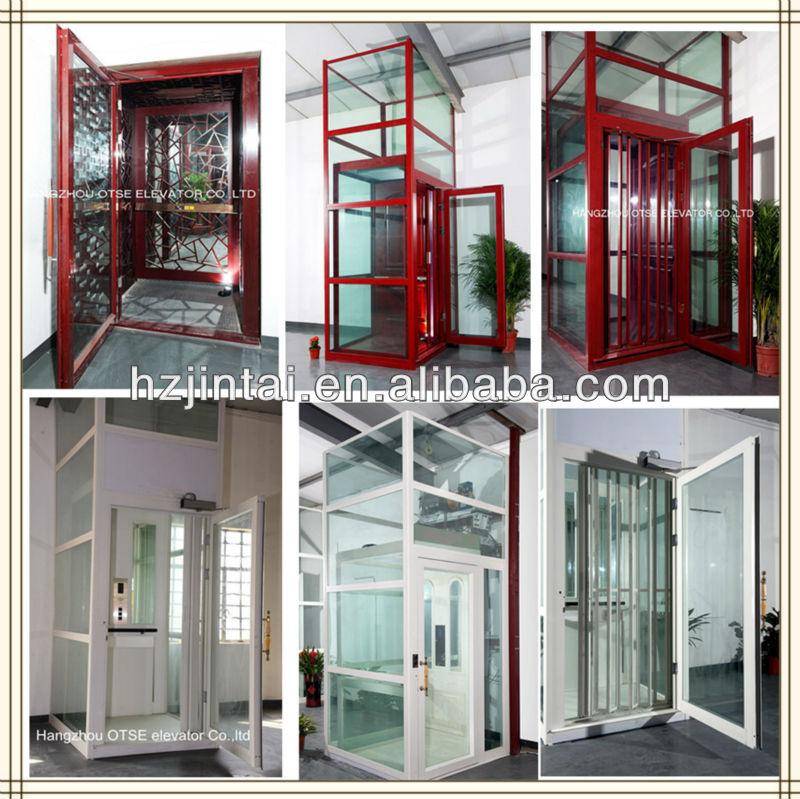 Kleine glazen huis villa lift lift rolstoel lift lift for Cheap home elevators
