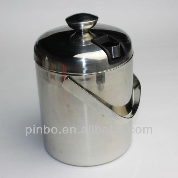 Grote roestvrij staal ijs emmer met deksel buy product on - Thuis container verkoop ...