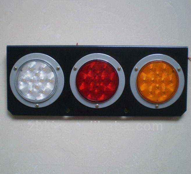 4 Inch Round 3 Hole Led Tail Light With Bracket