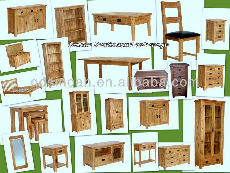 roble mesa de nochenoche de dormitorio conjunto