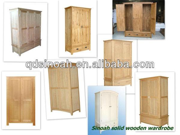 Oak Furniture Latest Wooden Wardrobe Design Modern Bedroom Sets