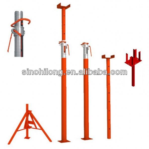 Pole Shoring Jacks : Scaffolding adjustable construction shoring prop jacks