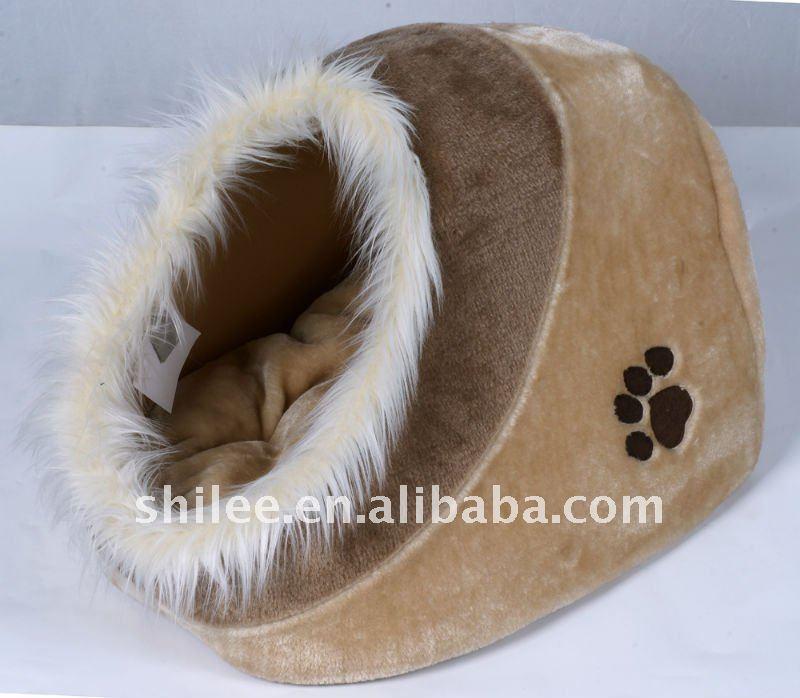 new plush petdogcat cave bed