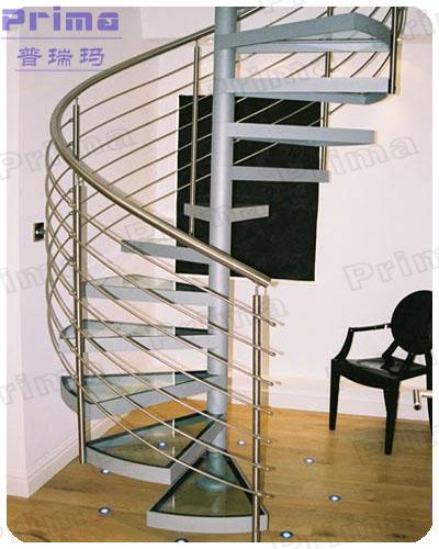 Prefabricated Stainless Steel Staircase Design Handicap Spiral