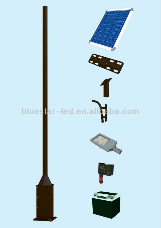 solar street light pole design