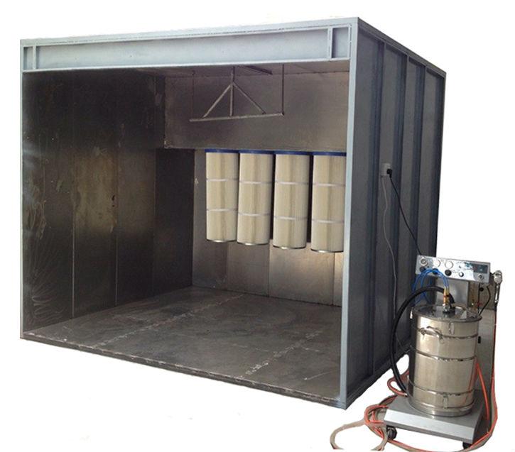 Auto alloy wheels powder coating walk in spray paint booth for Powder coating paint booth