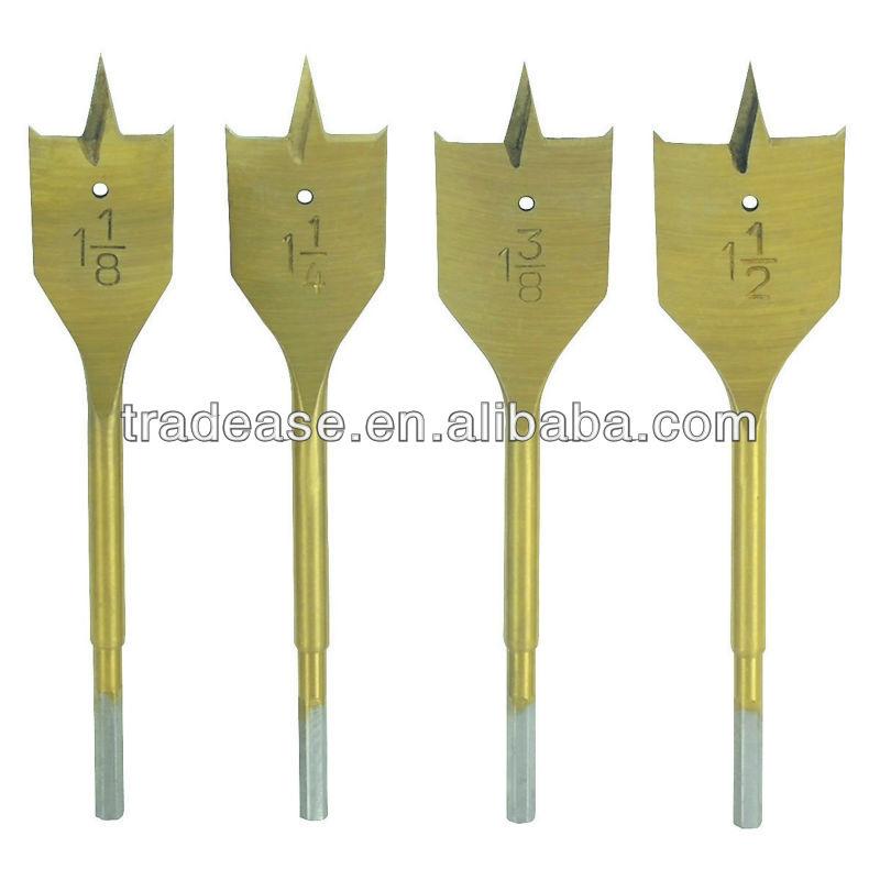 spade bits. 4 piece large diameter spade bit set metal drilling drill bits