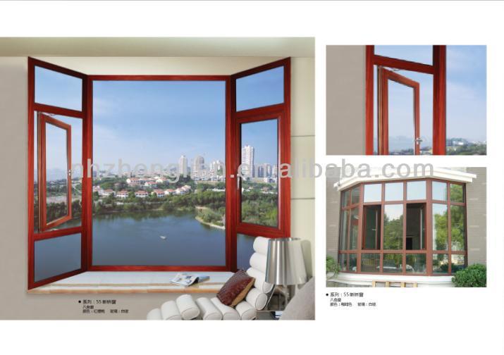 grano de madera acabado en aluminio ventanas redondas ventanas de arco diseo