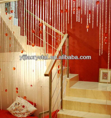 Cheap Decorative Hanging Door Crystal Glass Curtain For Home Decoration Wedding Door Window