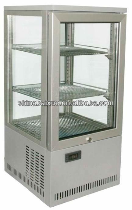 Four Sided Glass Cake Cooler Display Cooler Beverage