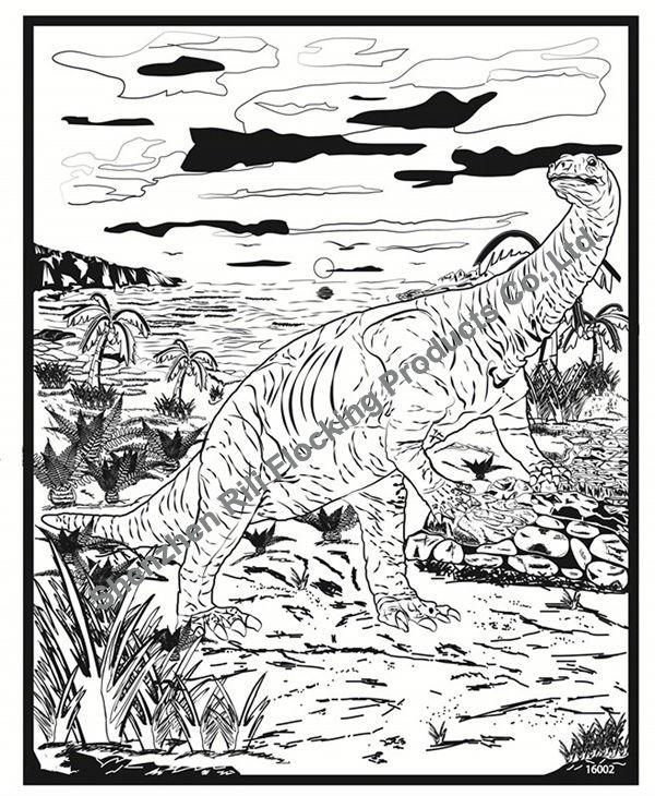 rili 1620 dinosaur unique kids velvet coloring pages - Velvet Coloring Book