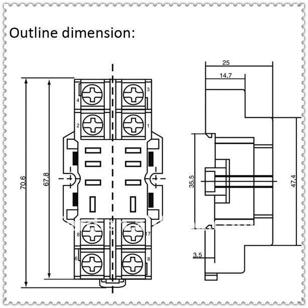 relay socket  plug-in relay socket   8 pin relay socket ptf08a-e