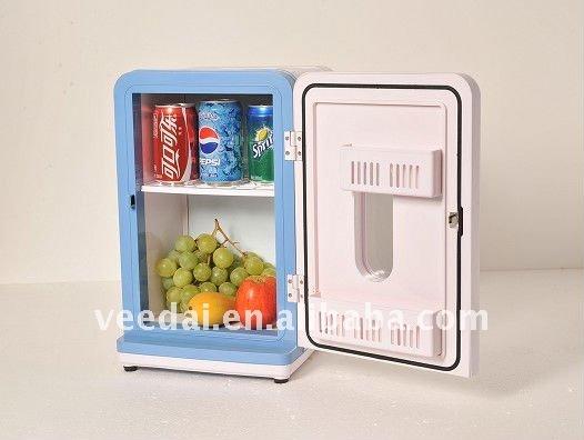 12L Portable Mini Fridge Hotel Mini Bar Cabinet Refrigerator