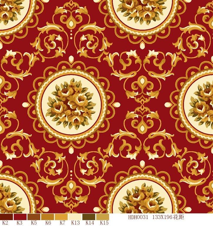 Modern Commercial Royal Design Printed Plush Stock Carpet Roll ...