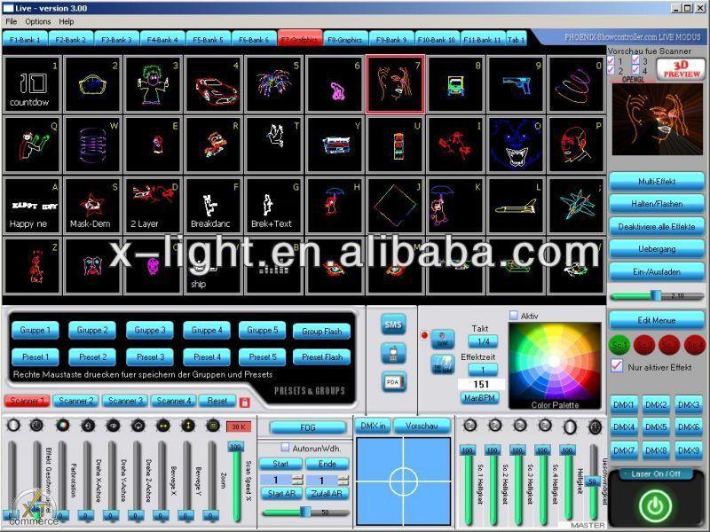 Phoenix Laser Light Show Software Ilda Dmx Laser Software