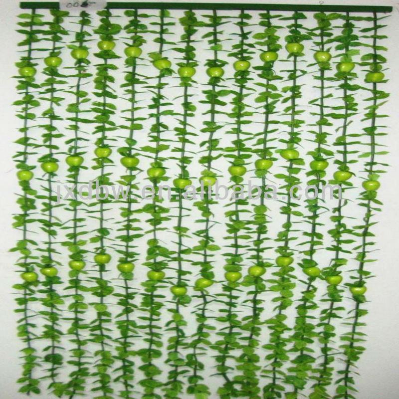 Wholesale Fabric Hanging Plastic Flower Beads Bamboo Door Curtain