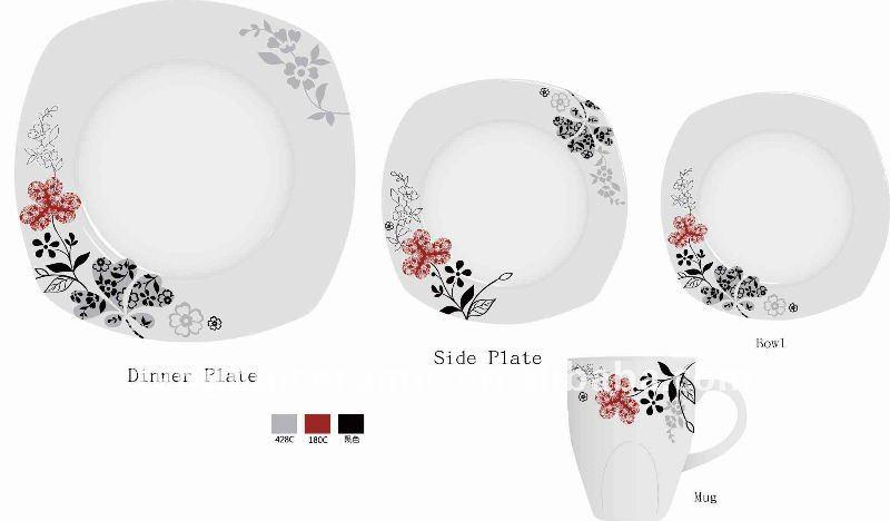 vajilla 20 unids moderna vajilla de porcelana buy product on. Black Bedroom Furniture Sets. Home Design Ideas