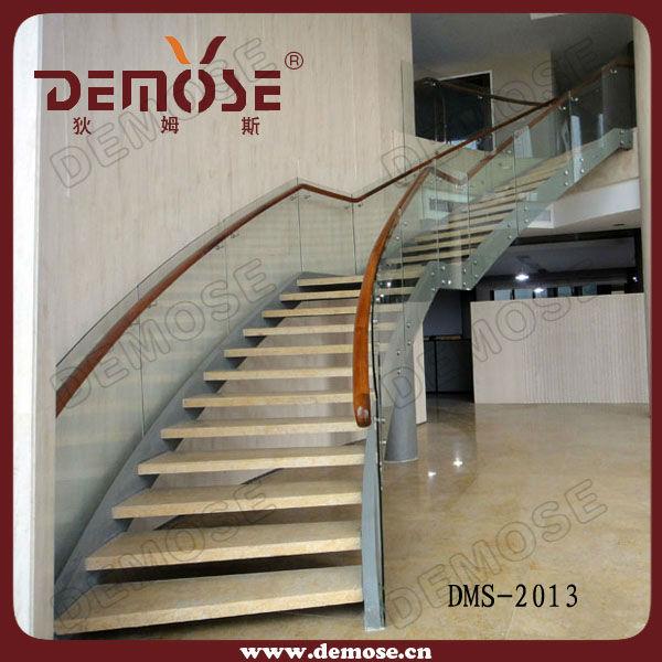 Prefabricated Spiral Stairs Modern Stainless Steel Round