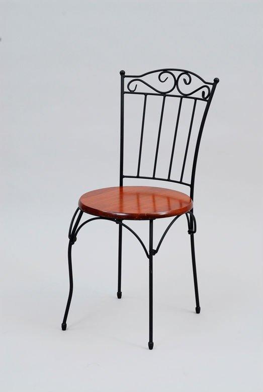 Antique Style Wrought Iron Chair Iri 020