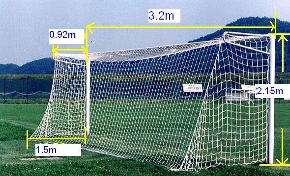 Standard Full Size Soccer Football Goal Posts And Net