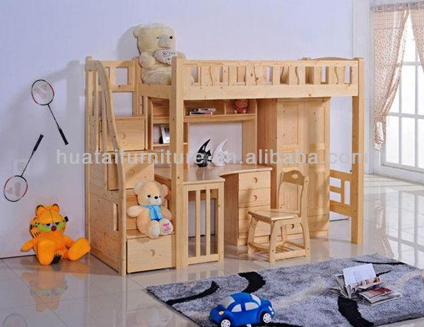 Unieke ontwerp kinderen massief hout slaapkamer sets meubels buy product on - Houten bureau voor kinderen ...