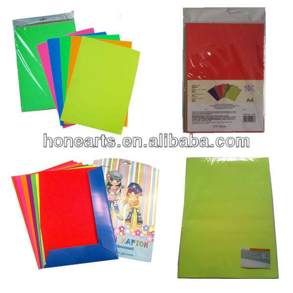 Wholesale Bright Colored Contact Paper,art Neon Paper,colorful Fluorescent  Paper
