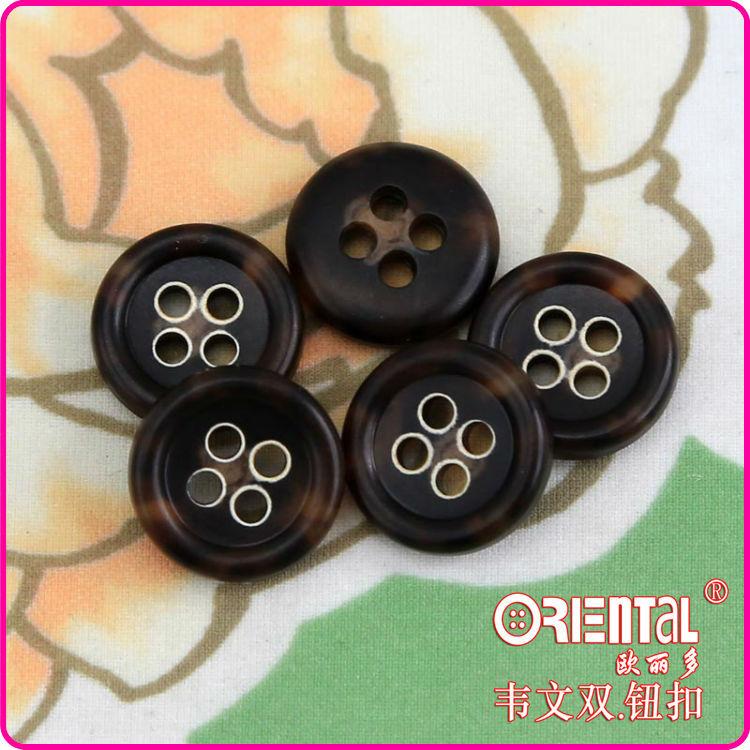4holes Dark Brown Real Urea Suit Buttons - Buy Real Urea Buttons ...
