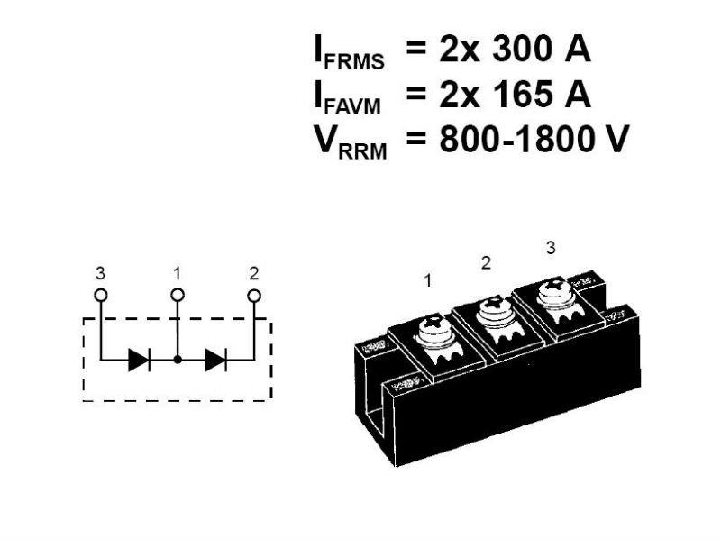 ixys vermogen diode modules mdd142- 18n1