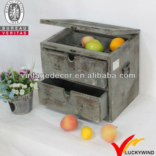 Handmade distressed wood fruit crate buy wooden fruit for Buy wooden fruit crates