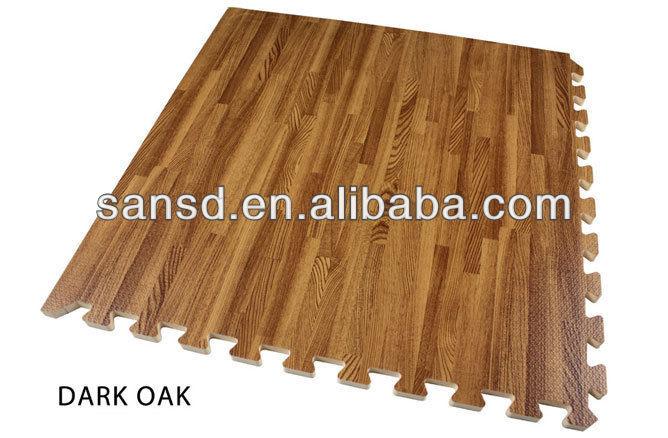 Scuro inserti in legno puzzle di piastrelle in schiuma eva tappetini