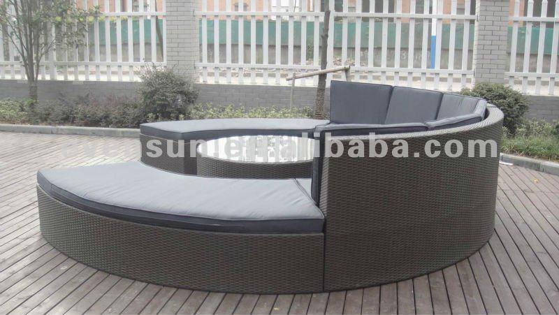 Rattan Sofa Outdoor Semi Circle Furniture