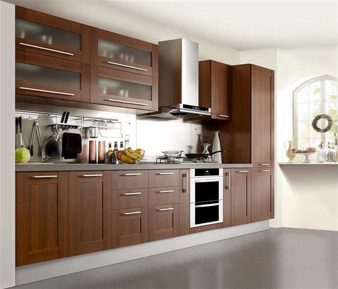 Wood grain pvc kitchen cabinet door buy acrylic kitchen for Acrylic kitchen cabinets prices