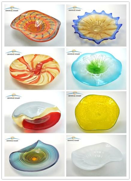 Hand Blown Glass Wall Art; Murano Glass Hanging Wall Decoration; Mosaic  Glass Plates