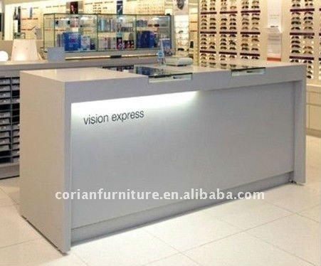 custom sized white reception desk counter acrylic lighted reception desk reception counter design