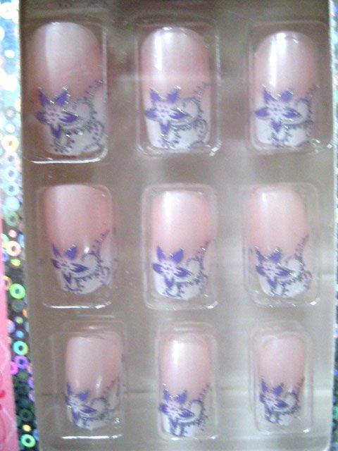 24pcs Fashion Japanese Fake Nails With Glue Inside - Buy Fashion ...