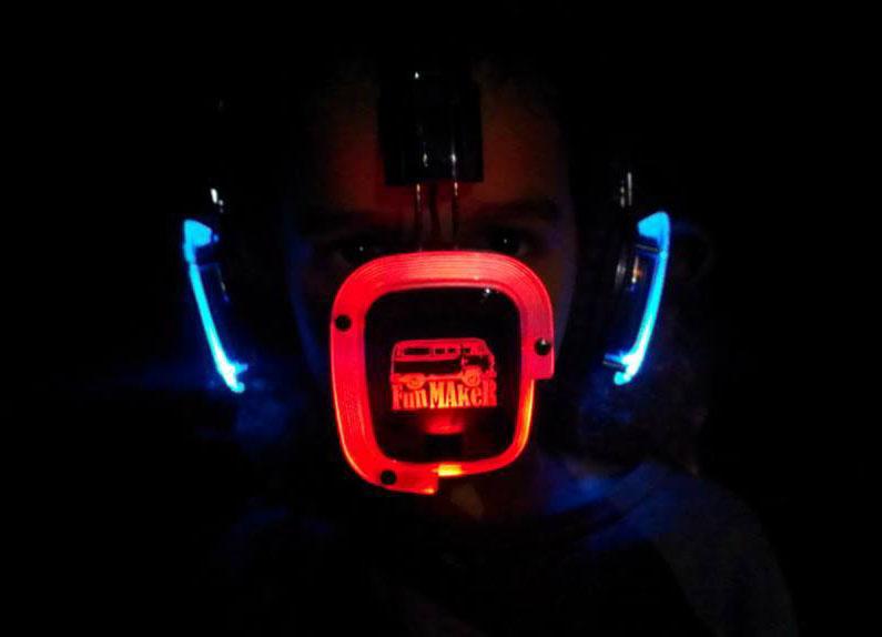 Led Light Silent Disco Headphones Rf-309