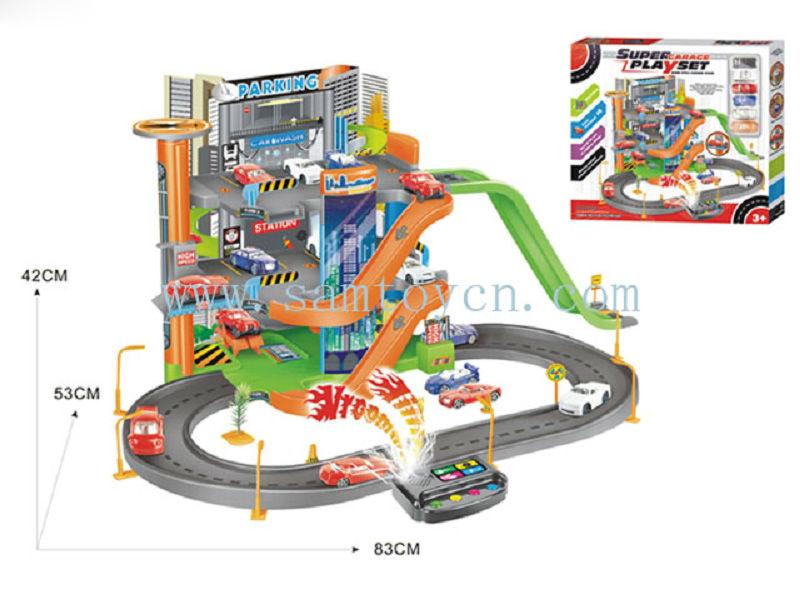 ic music box kids parking set toy car garage