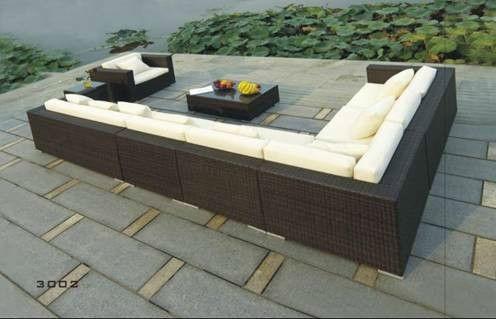 outdoor l shape sofa rattan garden furniture - Rattan Garden Furniture L Shape