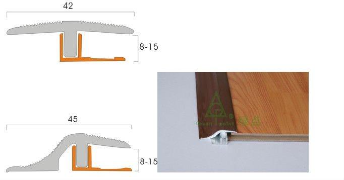 Pvc tegel bekleding profielen van vloeren vinyl vloer reducer