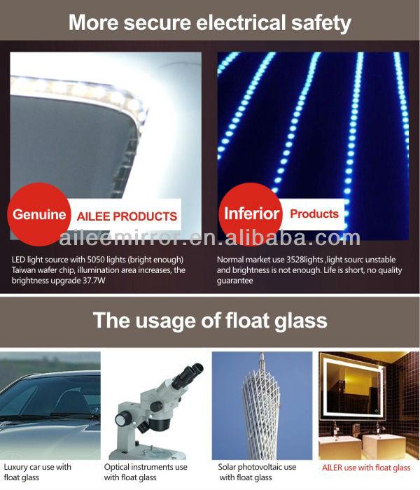 Bathroom Light Not Bright Enough ip44 certification laser etching led bathroom shave mirror bath