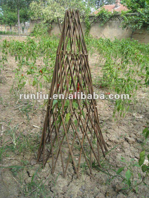 garden obelisk trellis. Wicker Garden Obelisk Trellis /wicker
