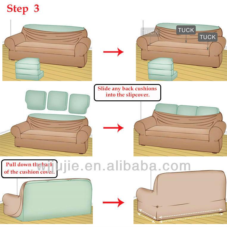 Stretch Stripe Sofa Cover Design