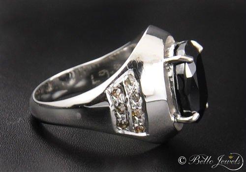 667ct Black Diamond Ring For Men Buy Mens RingProng Setting