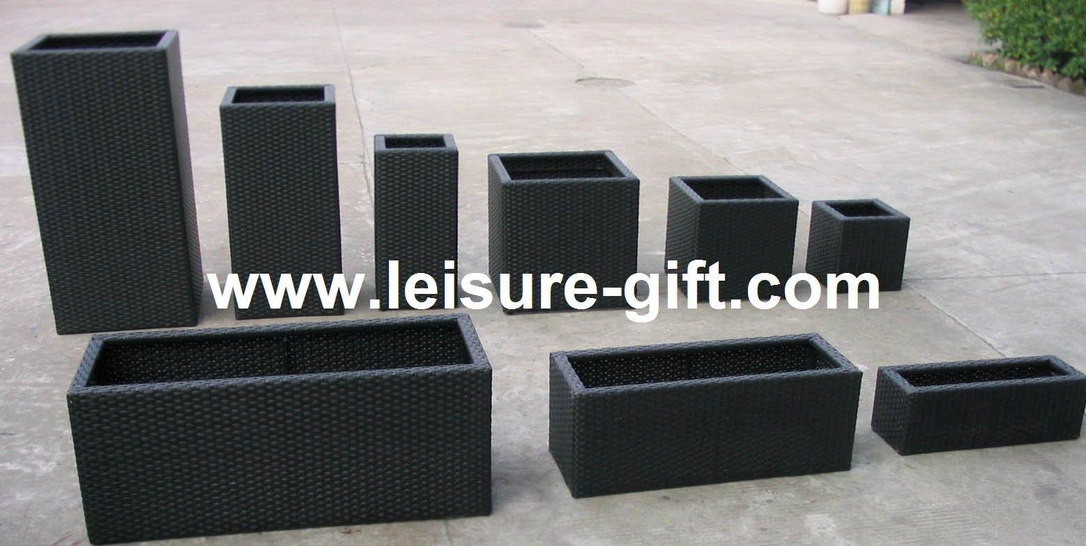 fo square garden rattan flower pot  buy rattan planter boxes  - fo square garden rattan flower pot