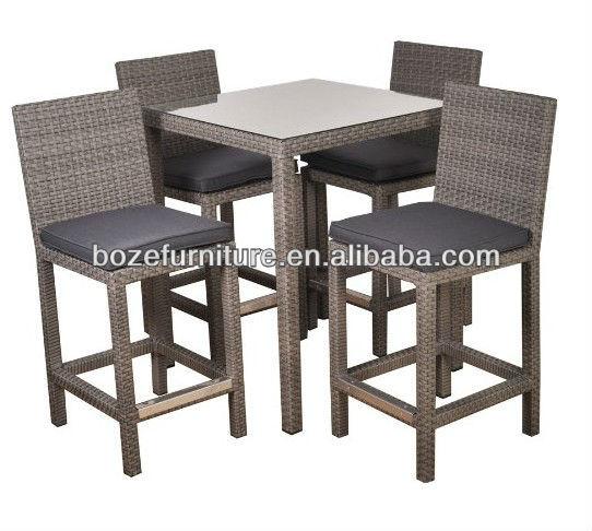 Wickwe Tabouret Bistro Meubles / Jardin Bar Table Haute Et Chaise ...