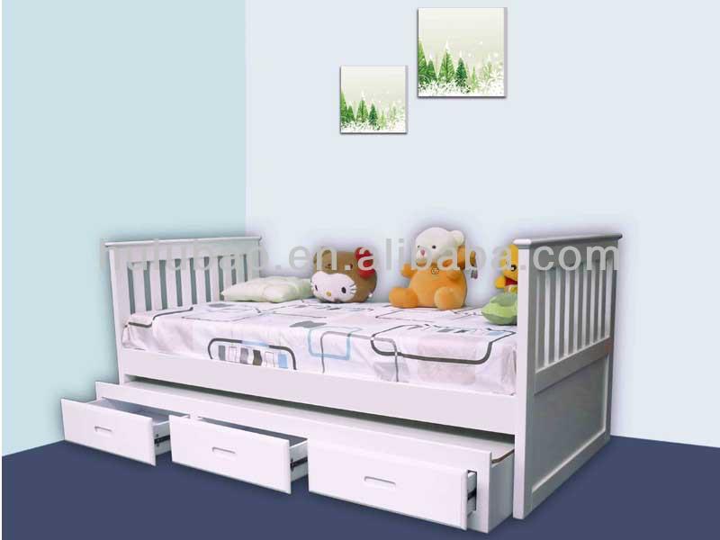 Etagenbett Holz : Massivholz etagenbett weiß nische cm teilbar rollrost