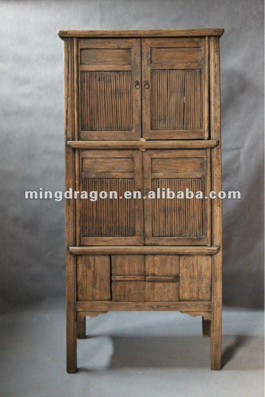 Muebles antiguos chinos blanco alto gabinete de bamb for Muebles antiguos chinos