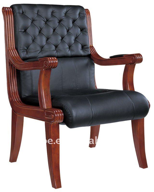 Silla de madera de roble madera antigua silla de oficina for Sillas para escritorio de madera