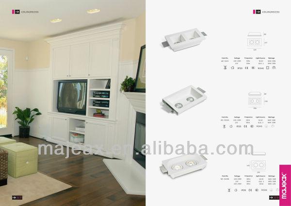 Plafoniera Quadrata E27 : Intonaco di gesso e messo plafoniera quadrata buy square